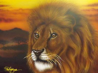 Painting - Serengeti King by Darren Robinson