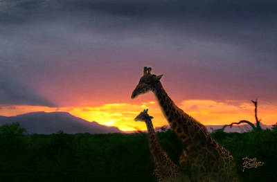 Photograph - Serengeti Sundown by Doug Kreuger