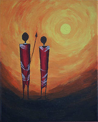 Fantastique Painting - Serengetti Sunrise by Prashanth Bala Ramachandra