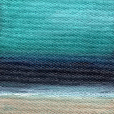Typographic World - Serenity- Abstract Landscape by Linda Woods