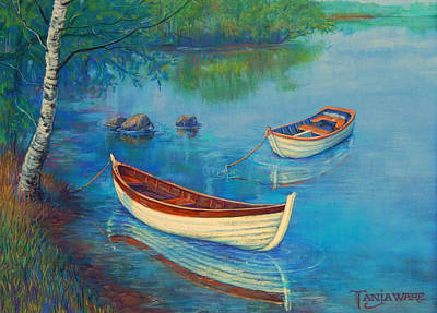 Realistic Pastel Painting - Serenity Cove by Tanja Ware