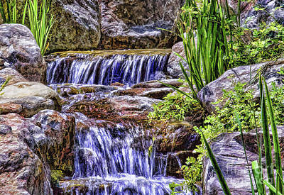 Serenity Falls Art Print by Nancy Marie Ricketts