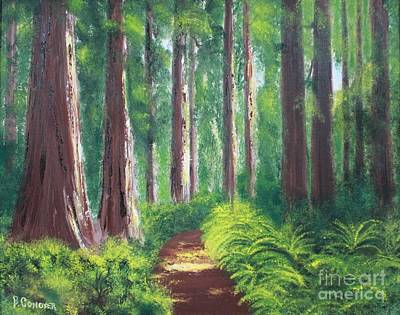 Painting - Serenity Forest by Bev Conover