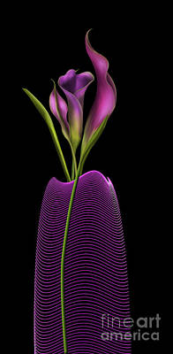 Serenity In Purple Art Print
