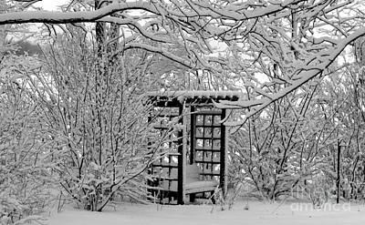 Serenity In Snow Art Print
