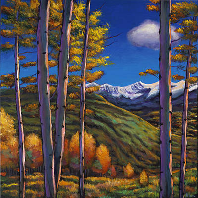 Birch Trees Painting - Serenity by Johnathan Harris