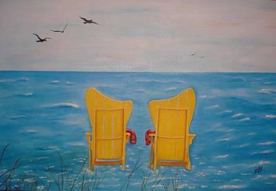 Animals Paintings - Serenity by Judy Jones