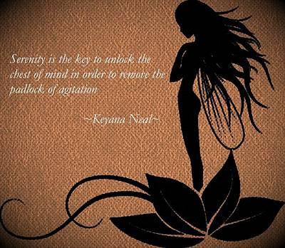 Fairy Poem Wall Art - Drawing - Serenity by Keyana Neal