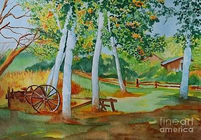 Old Farm Equipment Painting - Serenity by Lise PICHE