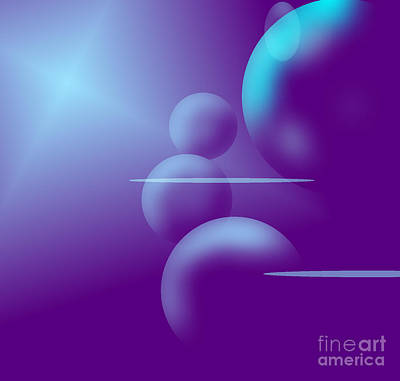 Digital Art - Serenity by Liz Campbell
