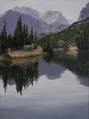 Rocky Mountain National Park Painting - Serenity by Mary Giacomini