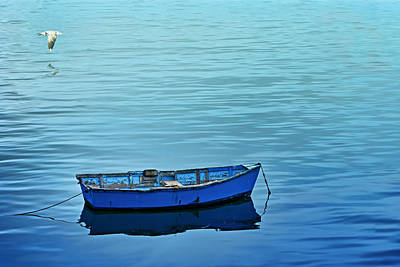 Row Boat Digital Art - Serenity by Nikolyn McDonald