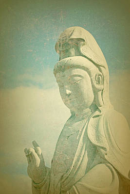 Photograph - Serenity Now Buddhist Statue by Peggy Collins