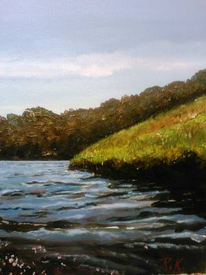 Painting - Serenity Of Slocum River by Ray Khalife