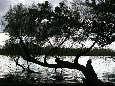 Serenity On The River Art Print