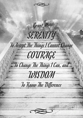 Serenity On The Stairway To Heaven Art Print by Desiderata Gallery