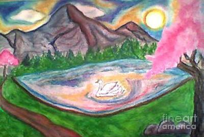 Serenity Pond Art Print by Lewanda Laboy
