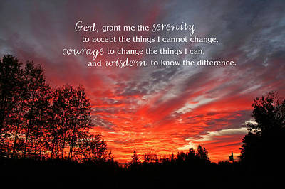 Photograph - Serenity Prayer by Barbara West