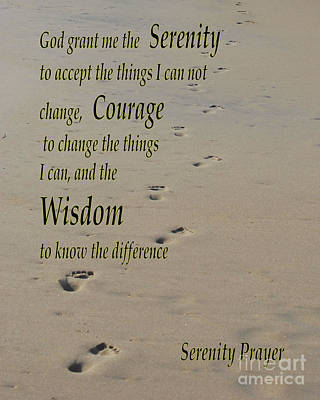 Photograph - Serenity Prayer by Bob Sample