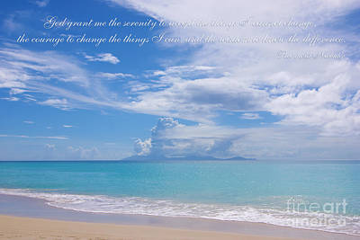 Serenity Prayer By Reinhold Niebuhr Art Print by Olga Hamilton