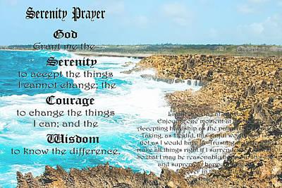 Serenity Prayer For Turbulent Times Art Print
