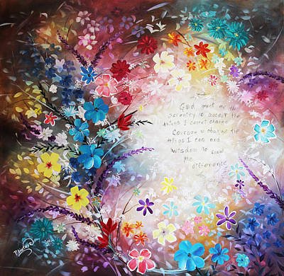 Art Print featuring the painting Serenity Prayer by Patricia Lintner