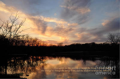 Photograph - Serenity Prayer Quote by Cheryl McClure