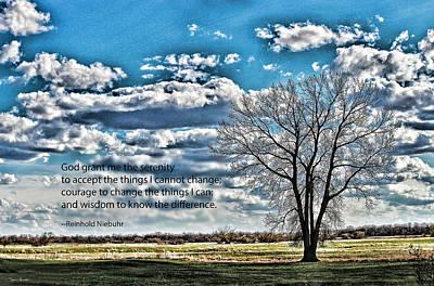 Serenity Prayer Photograph - Serenity Prayer by Sylvia Thornton