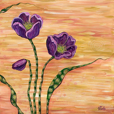Flower Center Painting - Serenity by Tanielle Childers