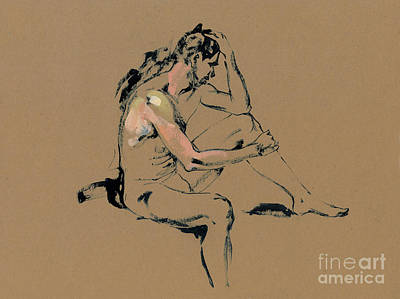 Male Nude Drawing Drawing - Serge by Konstantin Boreo