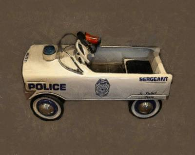 Sergeant Pedal Car Art Print by Michelle Calkins