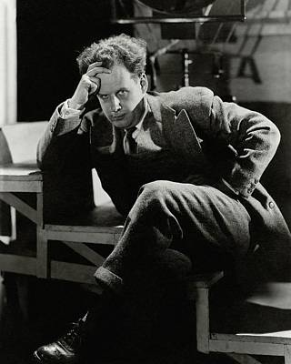 Young Man Photograph - Sergei Eisenstein Sitting On A Staircase by Barre