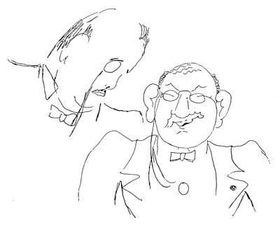 Parody Drawing - Sergei Pavlovich Diaghilev (1872-1929) by Granger