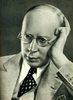 Photograph - Sergey Prokofiev In Late 1930s by English School