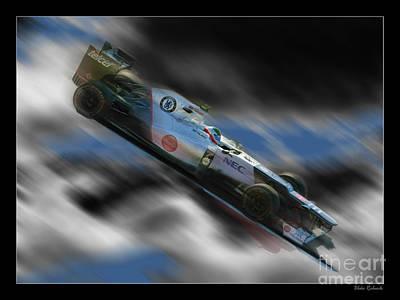 Sauber Photograph - Sergio Perez  by Blake Richards