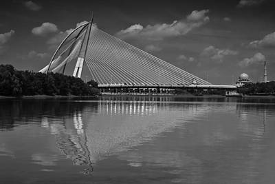 Photograph - Seri Wawasan Bridge In Black And White by Zoe Ferrie