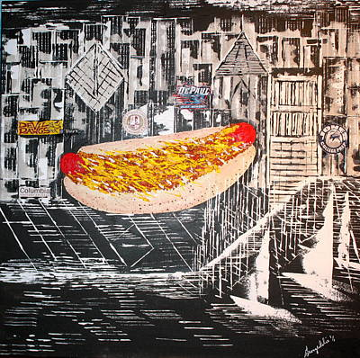 Painting - Series 1 - Chicago Chili Dog - Sold by George Riney