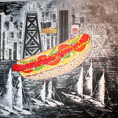 Painting - Series 1 - Chicago Dog - Sold by George Riney