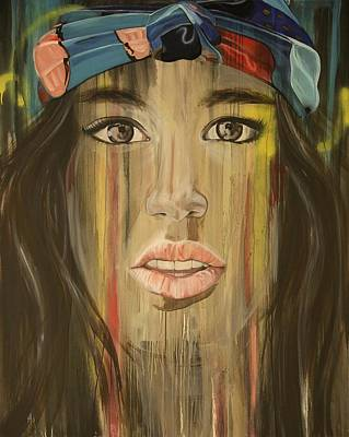 Foulard Painting - Series Age Of The Selfie Four by Melissa Beaulieu