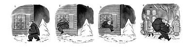 Santa Claus Drawing - Series by Roberta Macdonald