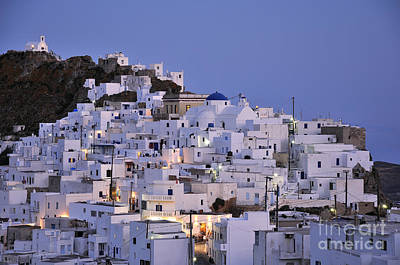 Photograph - Serifos Town During Dusk Time by George Atsametakis