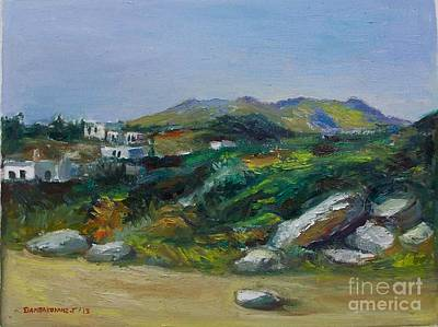 Painting - Serifos Island by George Siaba