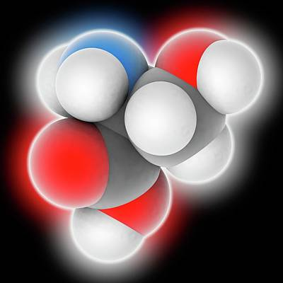 Serine Molecule Art Print
