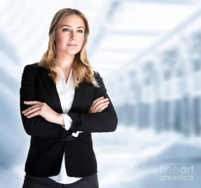 Photograph - Serious Business Woman by Anna Om