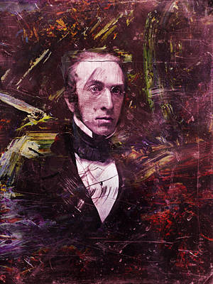 Painting - Serious Fellow 1 by James W Johnson