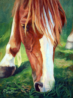 Wall Art - Painting - Serious Grazing by Lanie Frick