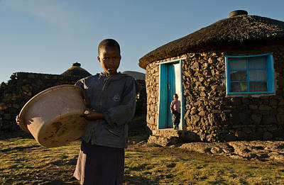 Lesotho Photograph - Serious Morning - Landscape by Aaron Bedell