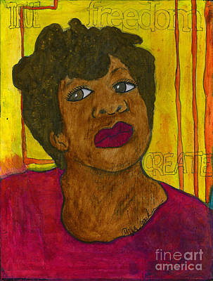 Mixed Media - Seriously by Angela L Walker