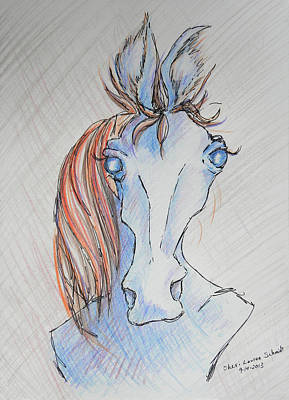 Seriously Funky Horse Art Print by Sheri Lauren Schmidt