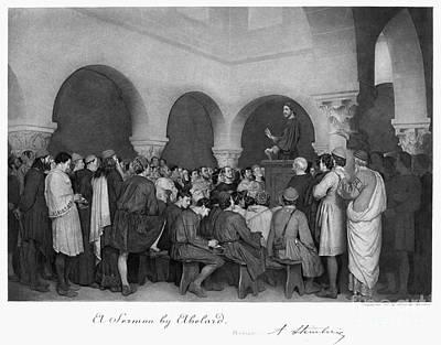 Sermon By Abelard Art Print by Granger